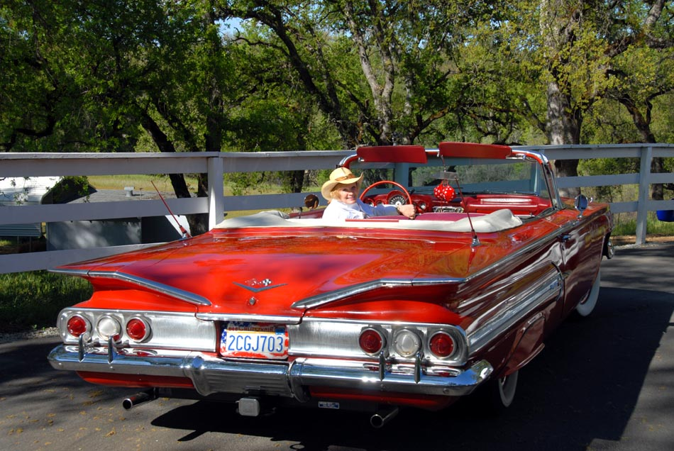 Becky\'s 1960 Chevy Impala Convertible - BAD CHARIOTS